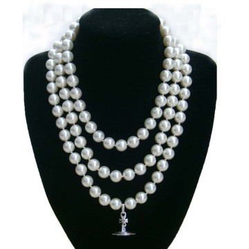 Freshwater Pearl Necklace with Monogram Pendant