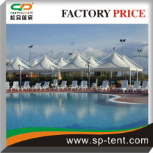 5x5m gazebo canopy tents for multipurpose sports events connected together by the use of integrated rain gutters