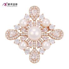Xuping Fashion luxe plaqué or cristaux de Swarovski Pearls bijoux en forme de fleur élément broche -00010
