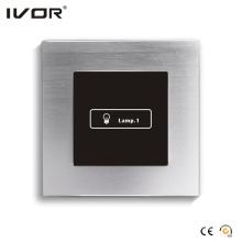Cadre de contour en alliage d'aluminium à écran tactile 1 commutateur d'éclairage (HR1000-AL-L1)