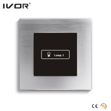 1 Gang Lighting Switch Touch Panel Aluminum Alloy Outline Frame (HR1000-AL-L1)