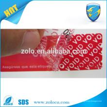 Encuentre el mejor precio anti-falsificación pegatinas falsificación evidente seguridad cinta adhesiva proveedores en China
