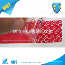 Trouvez le meilleur prix contre les contrefaçons autocollants indifférents fournisseurs de rubans adhésifs de sécurité en Chine