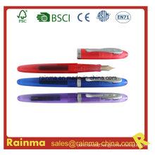 Plastic Liquid Fountain Pen with Ink Cartridge