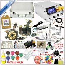 2 handgemachte Tätowierungmaschine mit großer Qualitätstätowierunginstallationssatz, 7 * 1 / 2oz Tätowierungtinte