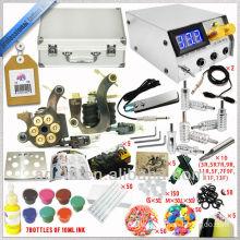 2 handmade tattoo machine with great quality tattoo kit, 7*1/2oz tattoo ink