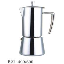 4 / 6cup de aço inoxidável Moka Espresso Fogão Moka Cafeteira