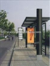 advertising bus shelter scrolling light box 06
