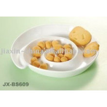White color porcelain snack dish JX-BS609