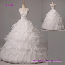 Ball Gown Wedding Dress Long Floor-Length Straps Organza with Beading