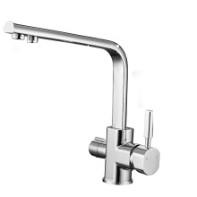 YL-660 Factory price double handle three way filtered drinking mixer tap water purifier kitchen sink faucet