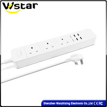 High Quality UK Electric Socket /Wall Socket with 4 USB Port