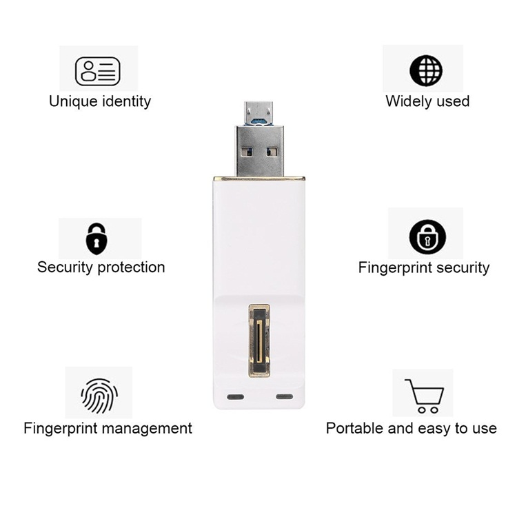 Micro Mini Flash Drive Fingerprint Reader Usb