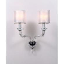 Moderne dekorative Glaswandlampe im minimalistischen Stil