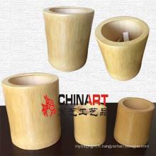 Porte-gobelet / stylo à bille / stylo en bambou naturel (CB08)