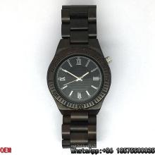 Relógios de quartzo de alta qualidade ébano-madeira relógios