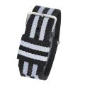 20mm tissu montre bracelet argent boucle