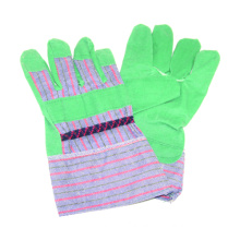 Strip Polyster Back Work Glove with PVC Tape
