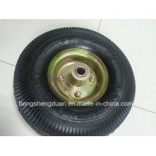 Roda profissional da borracha da roda pneumática do carrinho de mão do fabricante 4,10 / 350-4