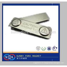 45mm carte support personnalisé métal badge magnétique