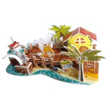 Puzzle de muelle de los pescadores 3D