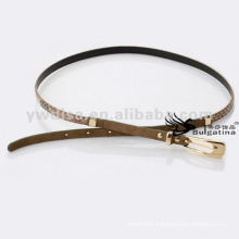 1cm Fashion Skinny Snake Leather Belts Womens Leather Snake Belts BC4622G-3