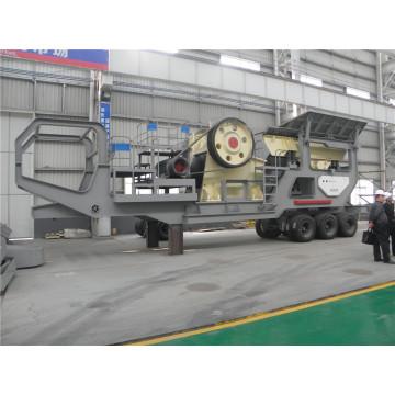 Estação de triturador móvel 100 toneladas por hora
