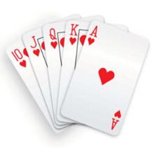 Cartão de papel de impressão personalizado para jogar jogos