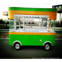 remolque popular de la comida de la calle / camión de la comida / furgoneta de la comida rápida / carro de la comida rápida / venta caliente del perro Van