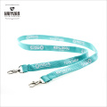 Silk Screen Printing Tube Polyester Lanyard with Double Hooks