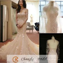 Элегантное Свадебное Платье Шампанское Кружева Свадебные Платья Русалка Свадебное Платье Бесплатно Свадебные Wrap Вуаль