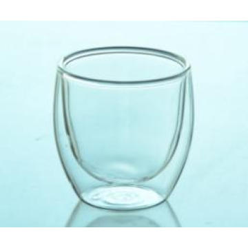Eco-Friendly OEM New Designed Double Wall Glass Espresso Cup, Drinking Glass Cup