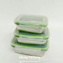 New Product Leak Proof 3pcs of Set Stainless Steel Bento Lunch Box/ Togo Food Container