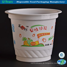 Einweg-Eiscreme-Plastikbecher