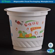 Taza de plástico para helados desechables