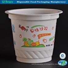 Одноразовый пластиковый стакан для мороженого