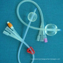 CE/ISO Approved 3-Way Silicone Foley Catheter
