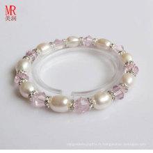 Bracelet élastique pour enfants en perles d'eau douce