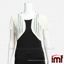 Mulheres malha Crochet Cashmere Shawl Sweater