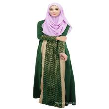 Mode 2017 Frauen weichen Polyester billig muslimischen Abaya Kimono