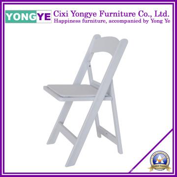 Cadeiras de resina de plástico dobrável