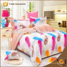 Китайский оптовый комфортный взрослый размер короля хлопка домой роскошный комплект постельных принадлежностей