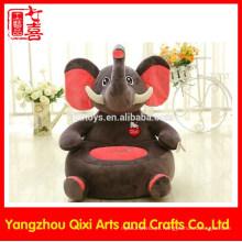 EN71 aprovação recheado elefante em forma de cadeira de crianças de pelúcia do bebê animal sofá cadeira macio stuffed animal cadeiras para crianças