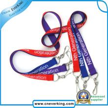 Logotipo personalizado de impressão de cordões de poliéster para telefone