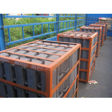 Steel Caps Moulded In Rubber Liners Sand Castings With Hrc33~42 Df078
