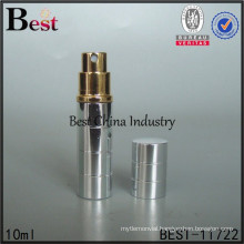 10ml aluminum spray perfume atomizer, mini travel refillable perfume bottle