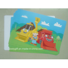 Hot Sale Cartoon Printed PP / PVC Placemat Plastic PP Table Mat