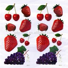 Etiqueta provisória impermeável da tatuagem 3D da forma da uva da morango da cereja com estilo bonito
