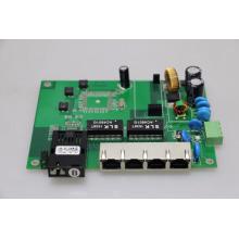Placa PCB para conmutador POE industrial EMC 4 puertos RJ45 + 1 puerto de fibra individual 15.4W / 30W + ieee802.3af / at