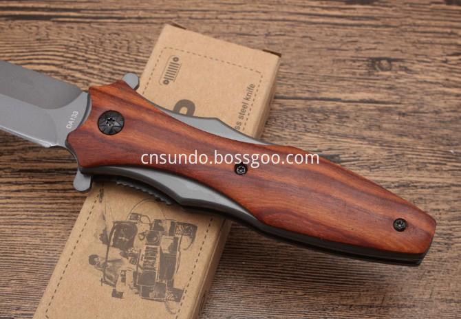 Wood Folding Knife